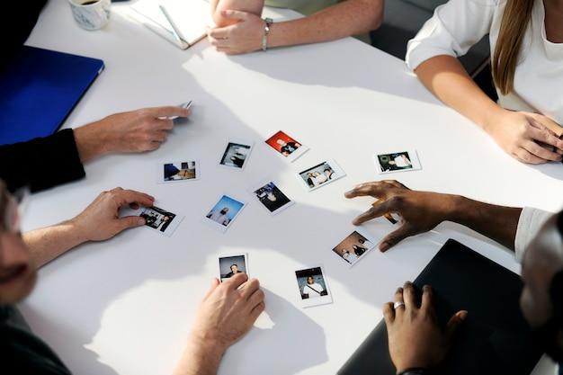 People choosing team member photos
