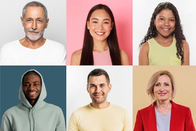 人々のコラージュデザイン