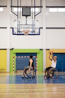 障害のあるスポーツをしている人