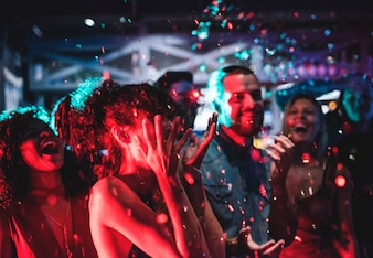 People enjoying a party