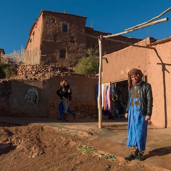 People at fortress, ait benhaddou, ouarzazate, souss-massa-draa, morocco