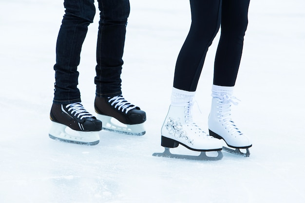 People on the ice rink