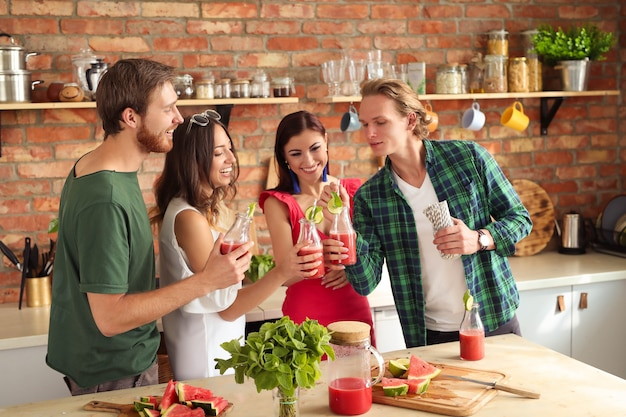 People at kitchen