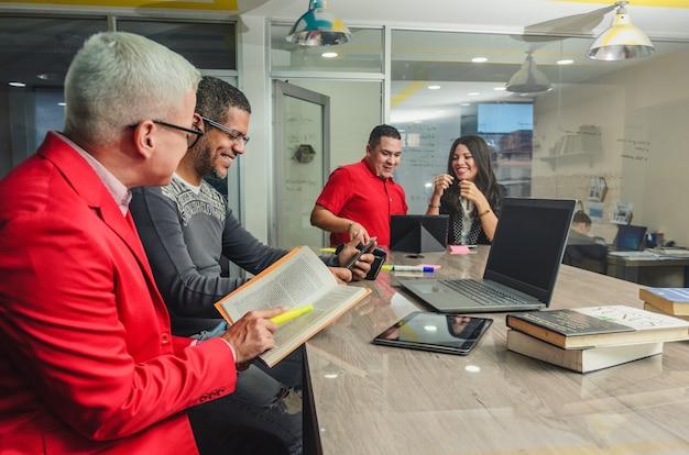 People meeting in office during meeting