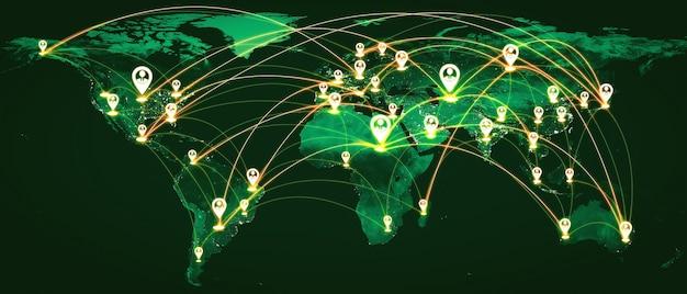 革新的な認識における人々のネットワークと地球のつながり