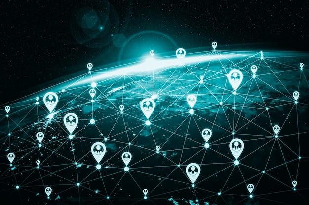 Сеть людей и глобальная связь с землей в инновационном восприятии