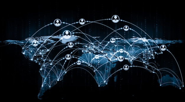 革新的な認識における人々のネットワークとグローバルな地球のつながり