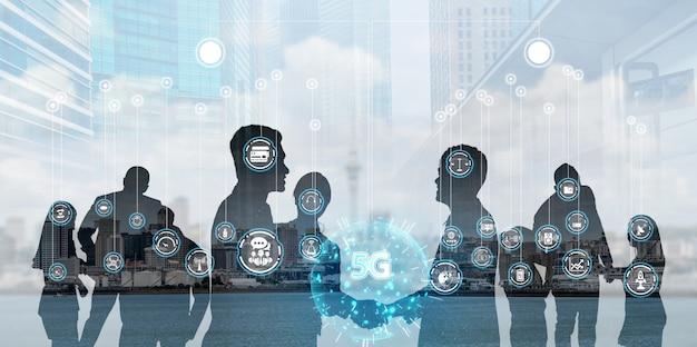 사람들이 네트워크 및 국제 커뮤니케이션 개념.