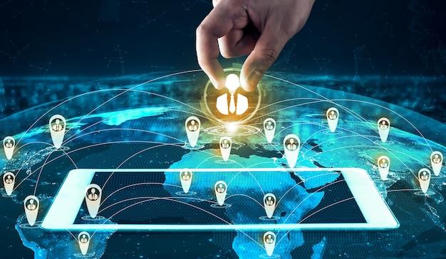 사람 네트워크, 인적 자원 및 고객 관계 관리 crm 개념