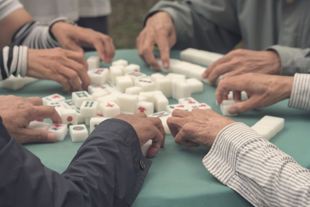 People play a board game