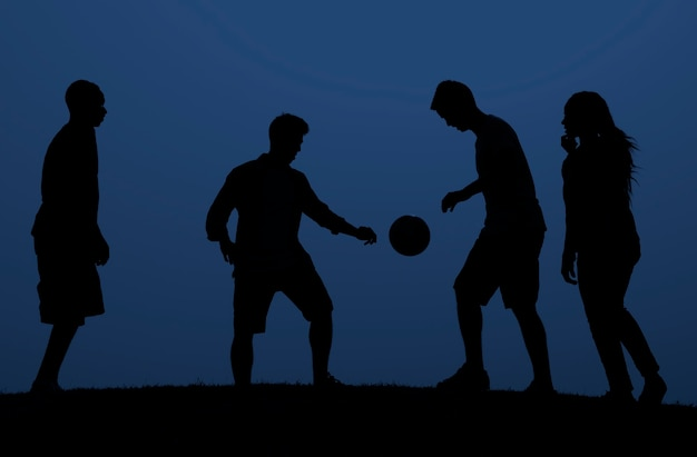 People playing football