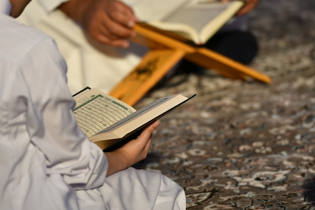 People reading the holy quran