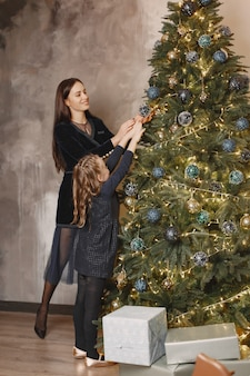 People repairing for christmas.