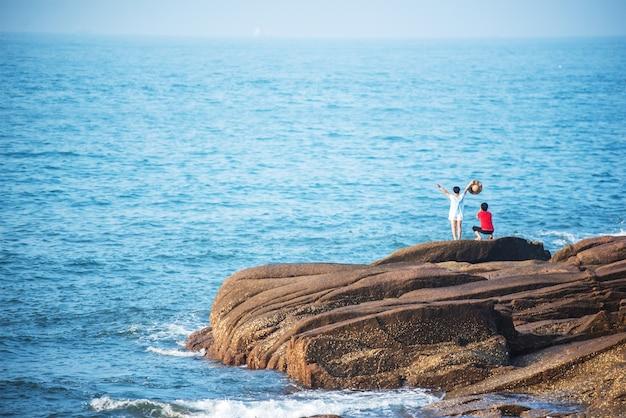 People on a rocks