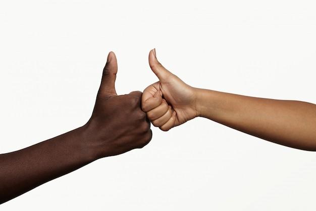 Люди, работа в команде, сотрудничество, общение и концепция партнерства.