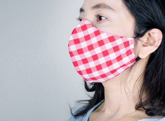 People wearing mask fabric for prevent disease and viruses