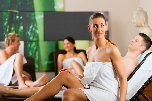 People in wellness relaxation room
