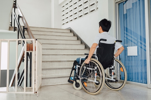 People with disabilities or handicap can access anywhere in public place with wheelchair