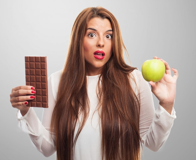 People worried diet chocolate health