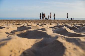 Peopple on sand