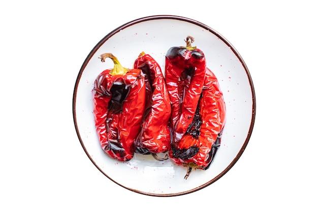 前菜の皮をむいた前菜焼き野菜唐辛子の前菜焼き新鮮な部分をすぐに食べられるペッパーグリル