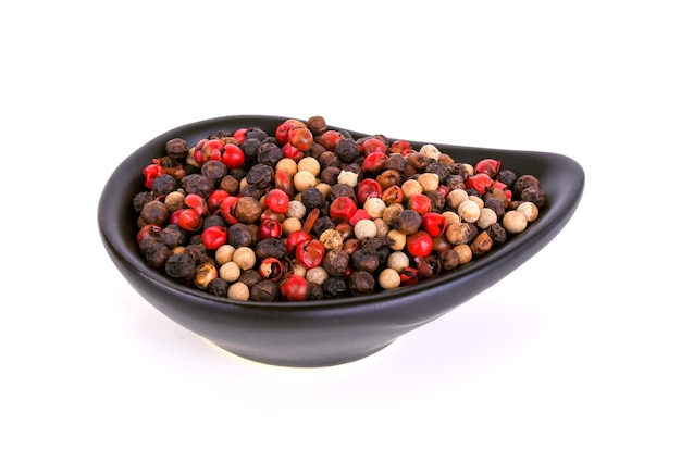 Pepper mix isolated on white background