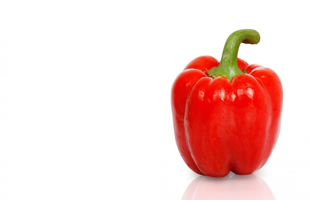 Pepper sweet  on white background