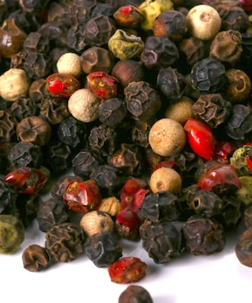 Peppercorns on the table