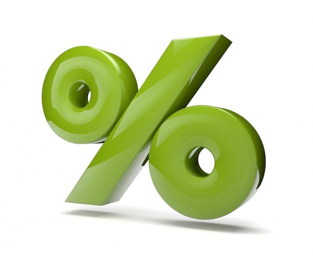 Процент зеленый