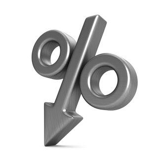 Процент на белом фоне. изолированная 3-я иллюстрация