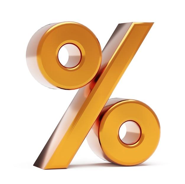 Знак процента на белом фоне. бизнес-концепция
