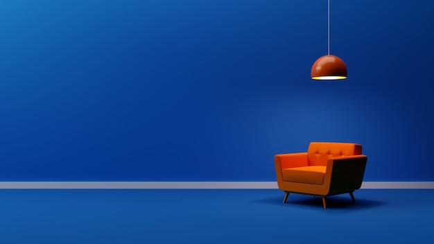 Perfect background minimalist architectural interior design colorful