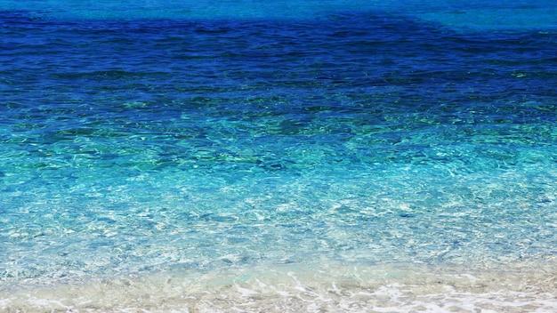 완벽한 맑고 푸른 바다, 질감, 투명한 물