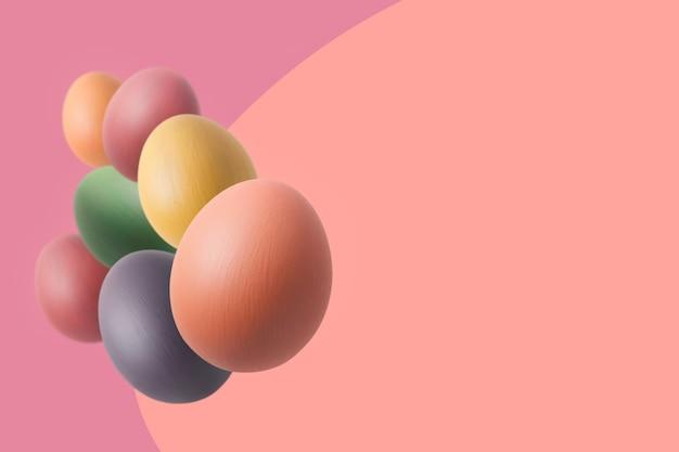 완벽한 다채로운 부활절 달걀. 부드러운 파스텔 톤 톤.
