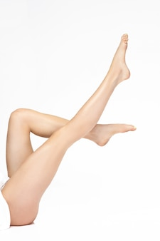 Perfect female legs, isolated