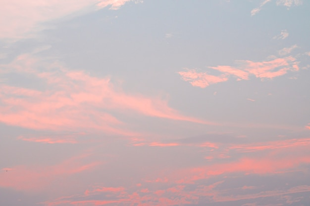 Идеальное розовое небо. весенний фон. фон неба и пастельный цвет.