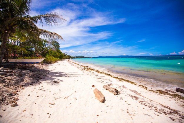 Perfect tropical beach with turquoise water and white sand beaches