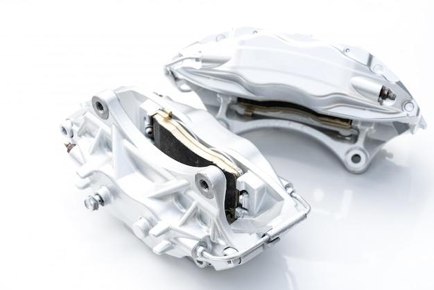Performance braking system,  new silver racing brake caliper.