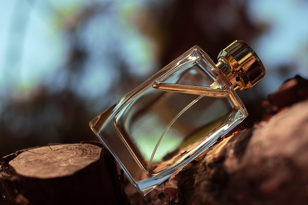 Perfume on the background of nature