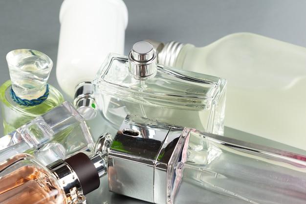 Perfume bottle on dark