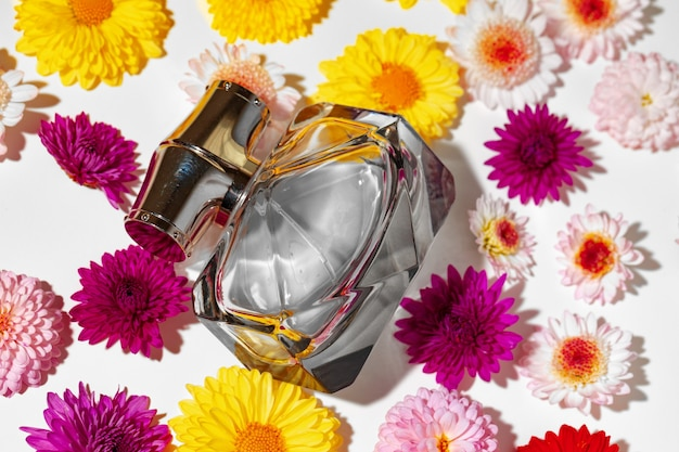 Perfume bottle for women in flower buds