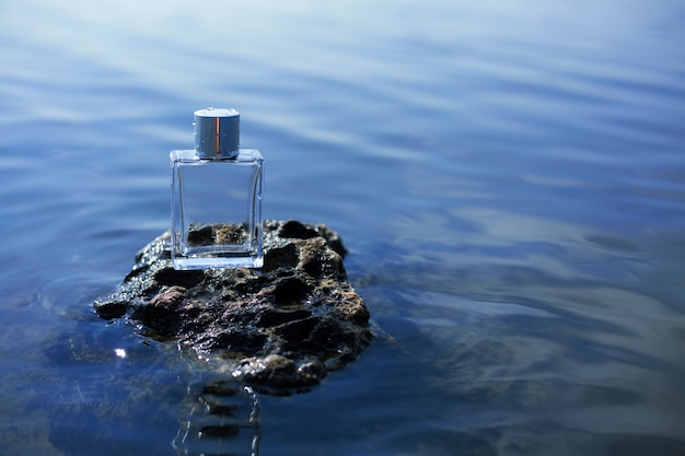 Perfume on stone