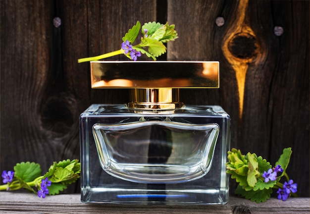 Perfume with spring flowers