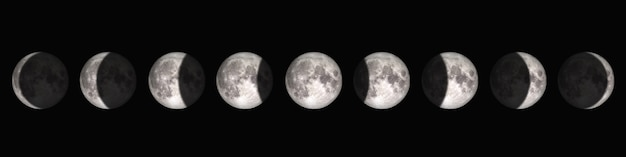 The period from full moon to new moon.