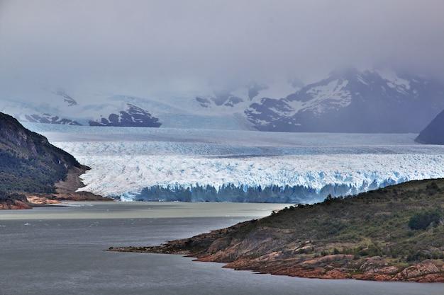 Perito moreno glacier, 아르헨티나 파타고니아의 엘 칼라 파테 닫기