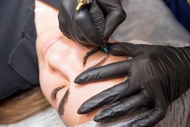 Перманентный макияж для бровей