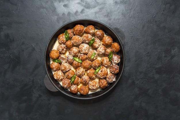 Persian koofteh berenji - rice kufta. meat meatballs. juicy meat meatballs with spices.
