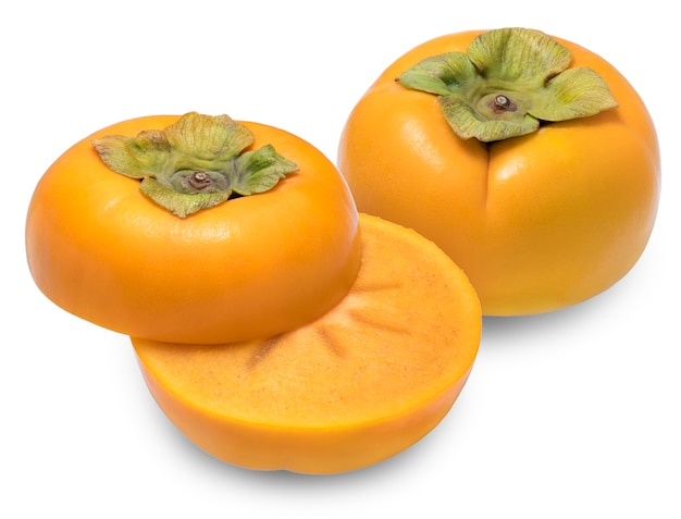 Persimmon isolated on white space.
