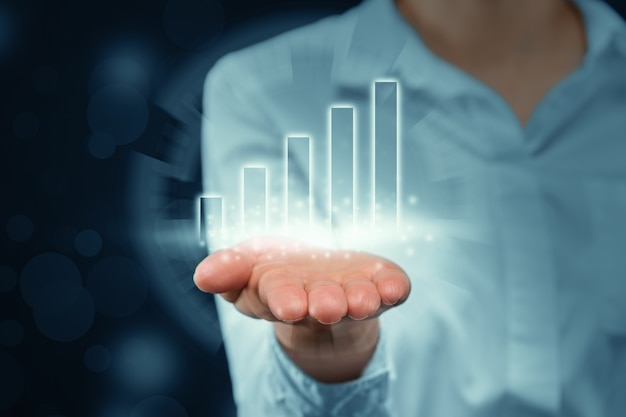 人は、ビジネスの成長とともに列を抽象的に投影します。