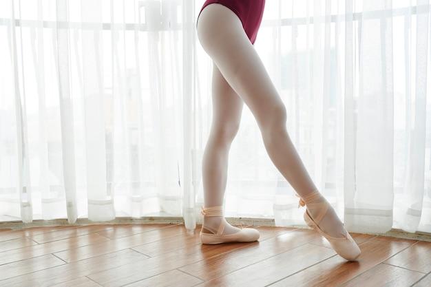 Person dancing ballet